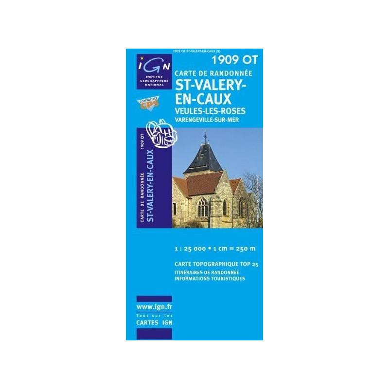 Achat Carte randonnées IGN - 1909 OT - St Valery En Caux - Veules les Roses
