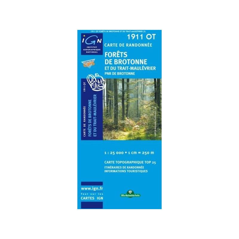Achat Carte randonnées IGN - 1911 OT - Forêts De Brotonne Et Du Trait Maulévrier - PNR de Brotonne