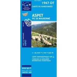 Achat Carte randonnées IGN - 1947 OT - Aspet - Pic de Maubermé