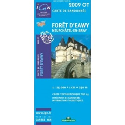 Achat Carte randonnées IGN - 2009 OT - Forêt d'Eawy - Neufchâtel en Bray