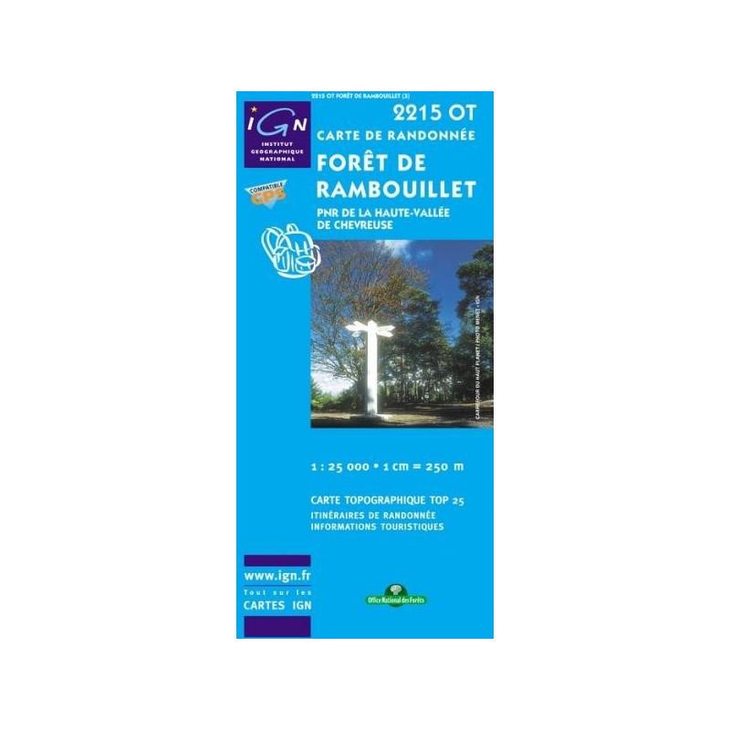 Achat Carte randonnées IGN - 2215 OT - Forêt De Rambouillet - PNR de la haute vallée de Chevreuse