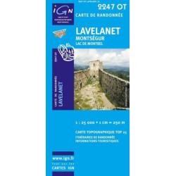 Achat Carte randonnées IGN - 2247 OT - Lavelanet - Montségur