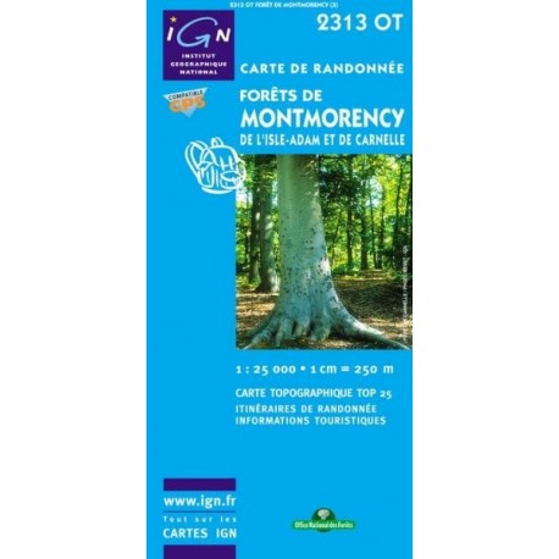 Achat Carte randonnées IGN - 2313 OT - Forêt De Montmorency De l'Isle Adam Et De Carnelle