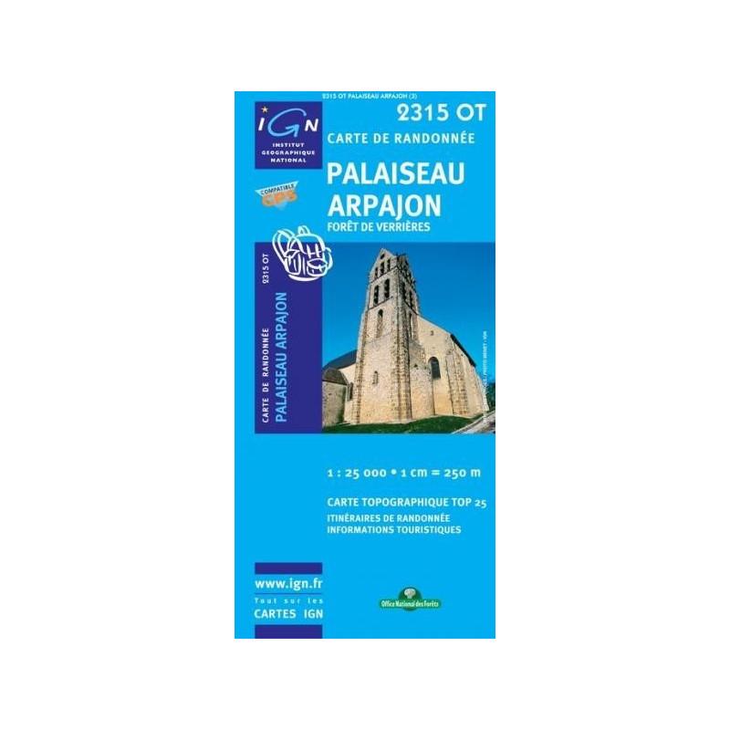 Achat Carte randonnées IGN - 2315 OT - Palaiseau Arpajon - Forêt de Verrières