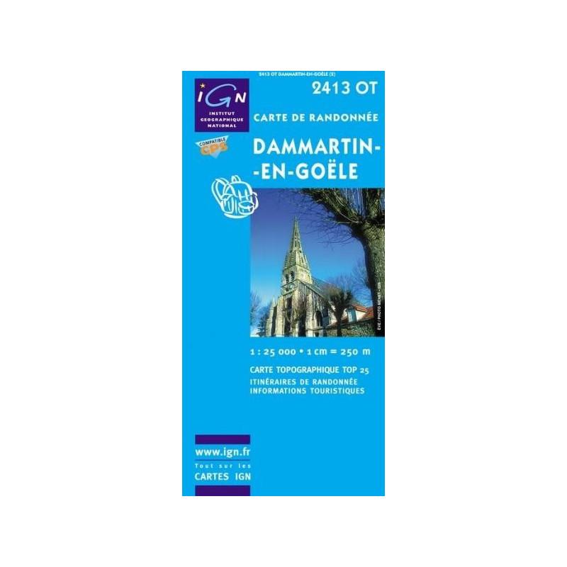Achat Carte randonnées IGN - 2413 OT - Dammartin En Goële