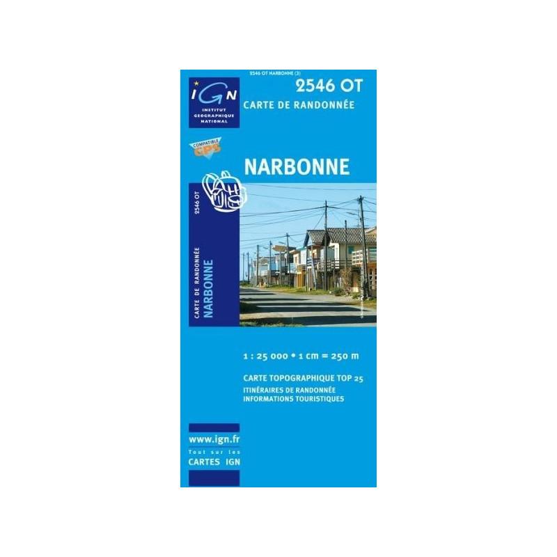 Achat Carte randonnées IGN - 2546 OT - Narbonne