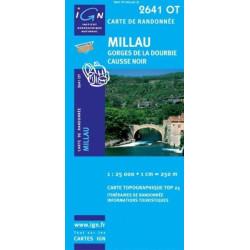 Achat Carte randonnées IGN - 2641 OT - Millau - Gorges de la Dourbie Causse Noir