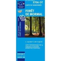 Achat Carte randonnées IGN - 2706 OT - Forêt De Mormal