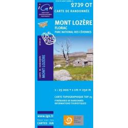 Achat Carte randonnées IGN - 2739 OT - Mont Lozère - Florac