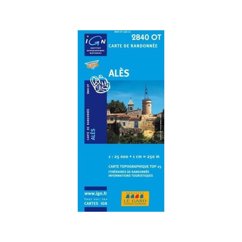 Achat Carte randonnées IGN - 2840 OT - Alès