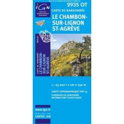 Achat Carte randonnées IGN - 2935 OT - Le Chambon Sur Lignon St Agrève