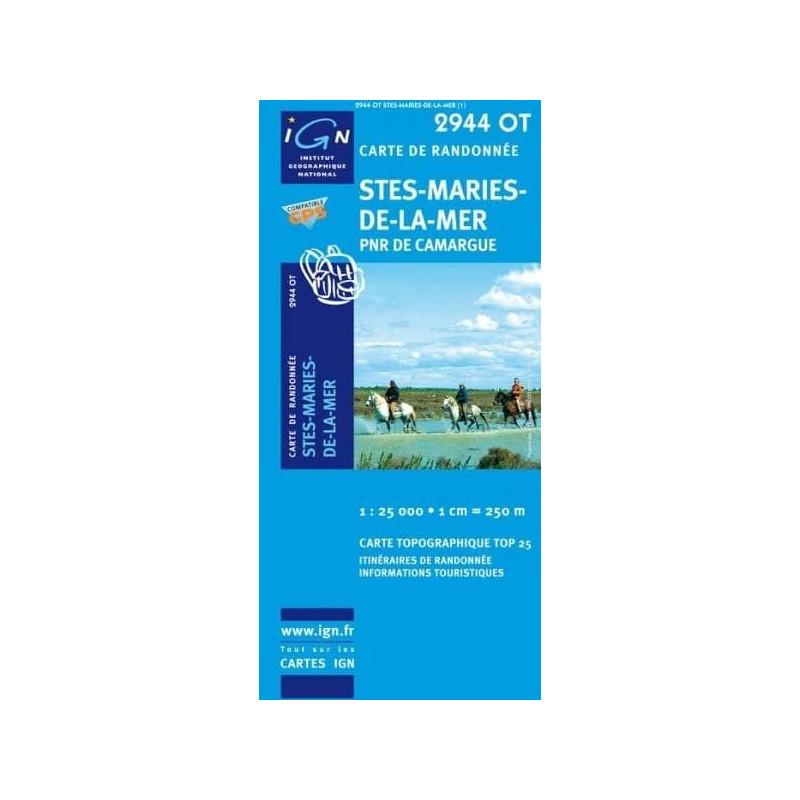 Achat Carte randonnées IGN - 2944 OT - Stes Maries De La Mer - PNR de Camargue