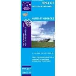 Achat Carte randonnées IGN - 3023 OT - Nuits St Georges