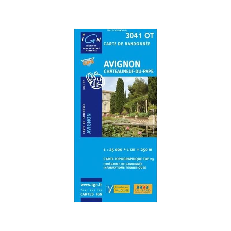 Achat Carte randonnées IGN - 3041 OT - Avignon - Châteauneuf du Pape