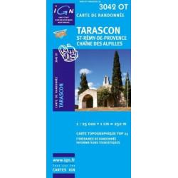 Achat Carte randonnées IGN - 3042 OT - Tarascon - St Rémy de Provence chaîne des Alpilles
