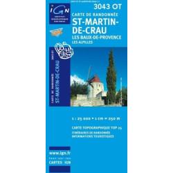 Achat Carte randonnées IGN - 3043 OT - St Martin De Crau - Les Baux de Provence