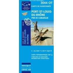 Achat Carte randonnées IGN - 3044 OT - Port St Louis Du Rhône - PNR de Camargue