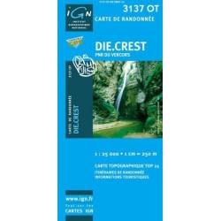 Achat Carte randonnées IGN - 3137 OT - Die Crest - PNR du Vercors