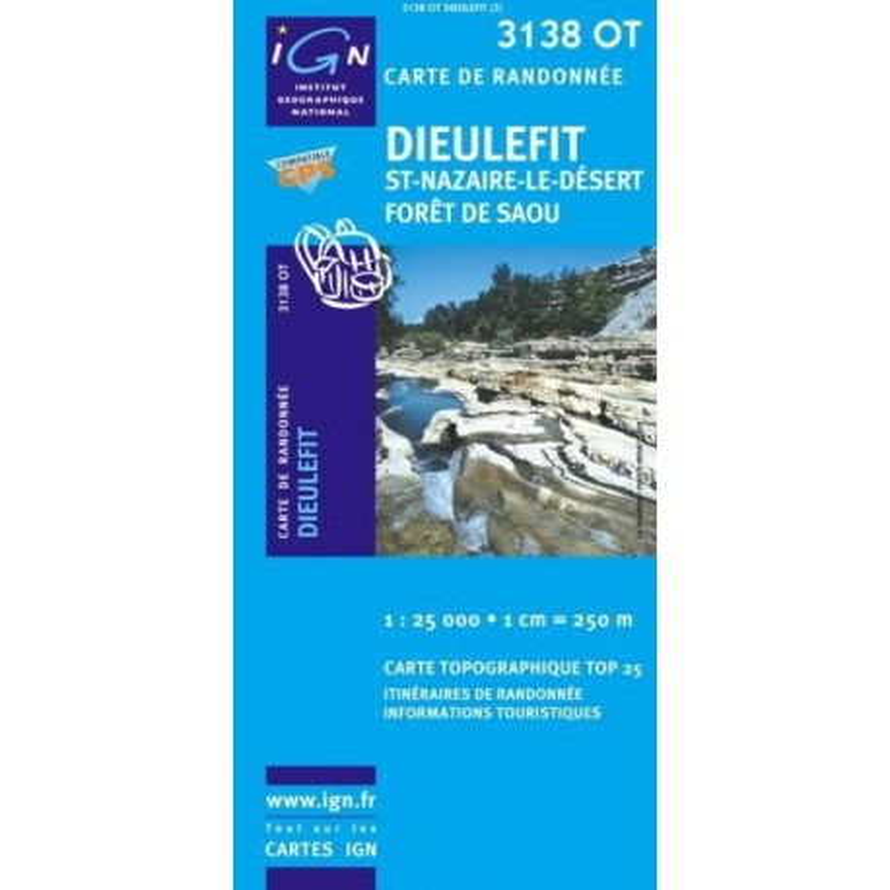 Achat Carte randonnées IGN - 3138 OT - Dieulefit - St Nazaire le désert forêt de Saou