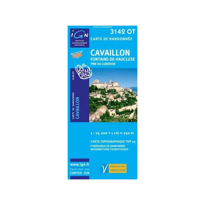 Achat Carte randonnées IGN - 3142 OT - Cavaillon - Fontaine de Vaucluse