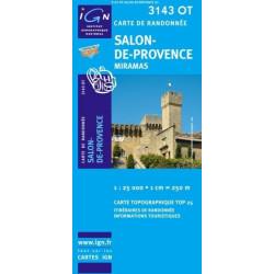Achat Carte randonnées IGN - 3143 OT - Salon De Provence - Miramas