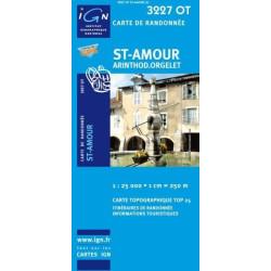 Achat Carte randonnées IGN - 3227 OT - St Amour - Arinthod Orgelet