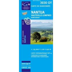 Carte randonnées IGN - 3230 OT - Nantua - Hauteville Lompnes