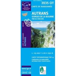 Achat Carte randonnées IGN - 3235 OT - Autrans - Gorges de la Bourne