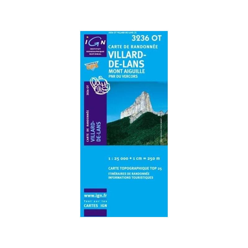Achat Carte randonnées IGN - 3236 OT - Villard De Lans - Mont Aiguille