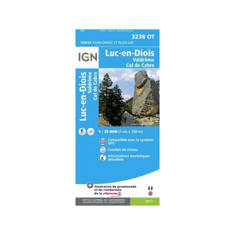 Achat Carte randonnées IGN - 3238 OT - Luc En Diois - Valdrôme col de Cabre