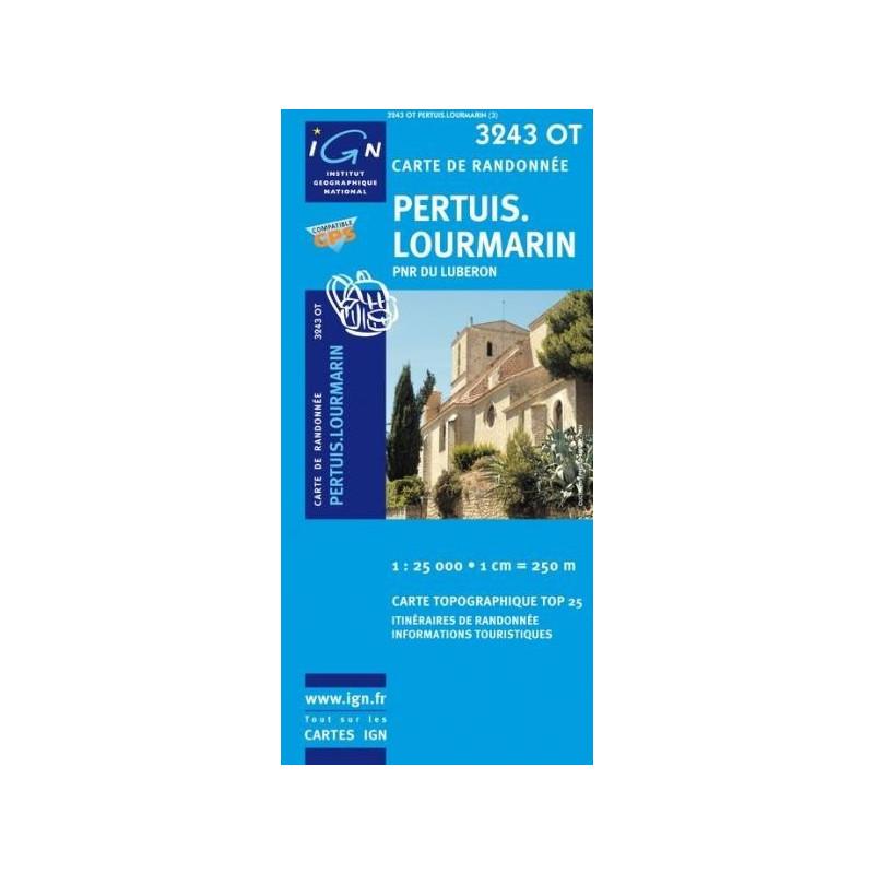 Achat Carte randonnées IGN - 3243 OT - Pertuis Lourmarin - PNR du Luberon