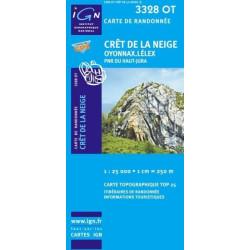 Achat Carte randonnées IGN - 3328 OT - Crêt De La Neige - Oyonnax Lélex