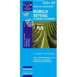 Achat Carte randonnées IGN - 3331 OT - Rumilly Seyssel - Le Grand Colombier