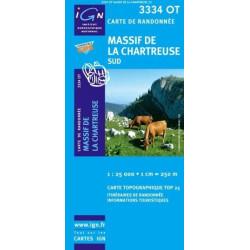 Achat Carte randonnées IGN - 3334 OT - Massif De La Chartreuse - Sud