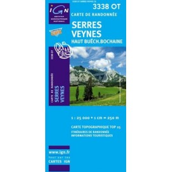 Achat Carte randonnées IGN - 3338 OT - Serres Veynes - Haut Buëch Bochaine