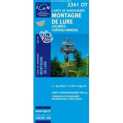 Carte randonnées IGN - 3341 OT - Montagne De Lure - Les Mées Château Arnoux