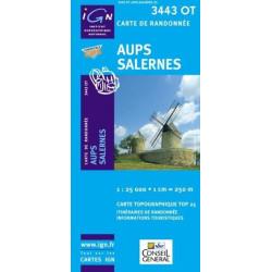 Achat Carte randonnées IGN - 3443 OT - Aups Salerne