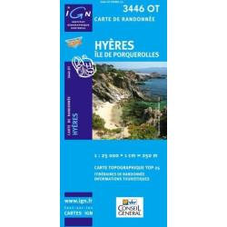 Achat Carte randonnées IGN - 3446 OT - Hyères - Île de Porquerolles