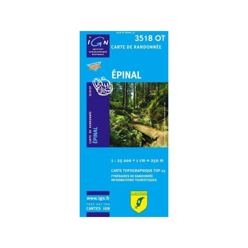 Achat Carte randonnées IGN - 3518 OT - Epinal