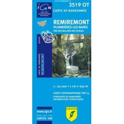 Achat Carte randonnées IGN - 3519 OT - Remiremont - Plombières les Bains