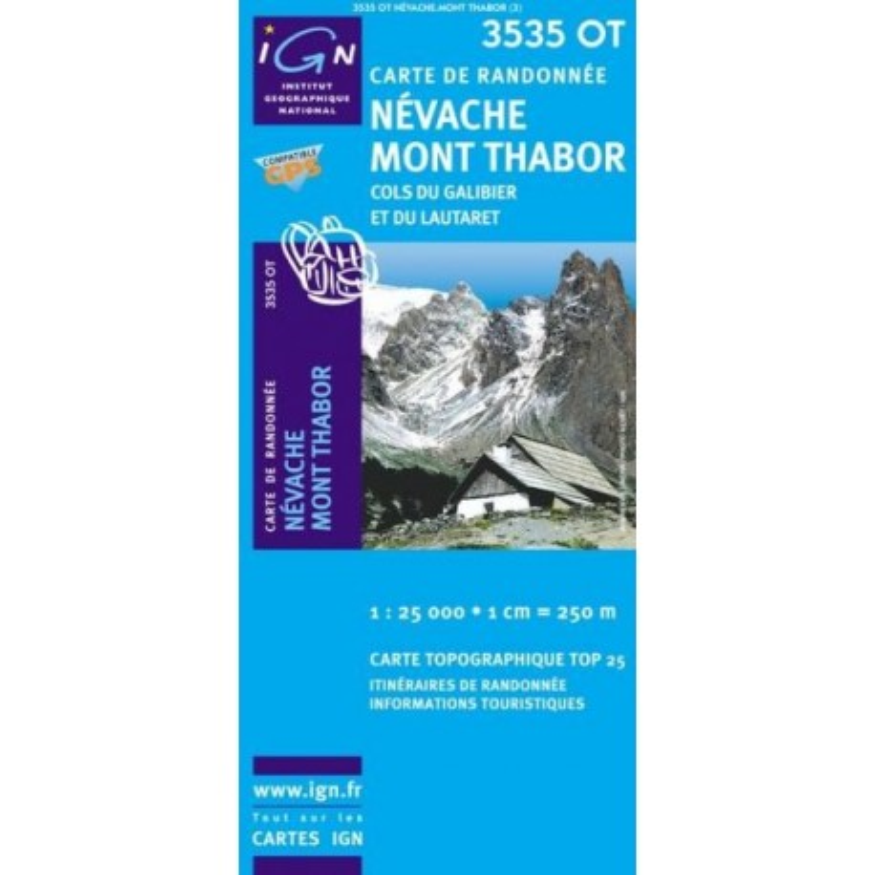Achat Carte randonnées IGN - 3535 OT - Névache Mont Thabor - Cols du Galibier et du Lautaret