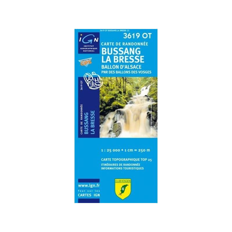 Achat Carte randonnées IGN - 3619 OT - Bussang La Bresse - Ballon d'Alsace