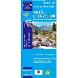 Achat Carte randonnées IGN - 3741 OT - Vallée De La Vésubie - Parc National du Mercantour