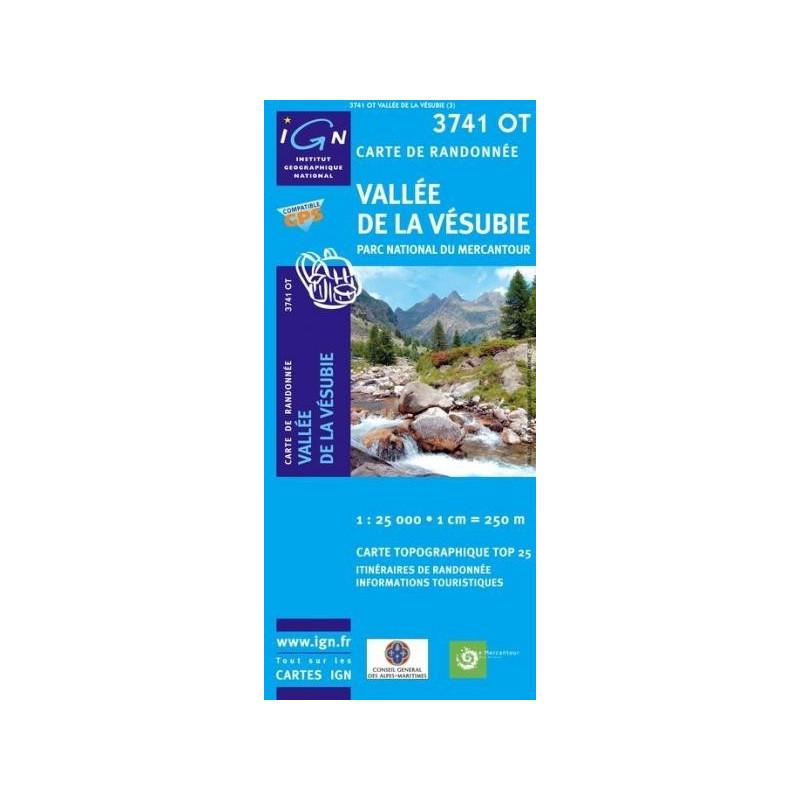 Carte randonnées IGN - 3741 OT - Vallée De La Vésubie - Parc National du Mercantour