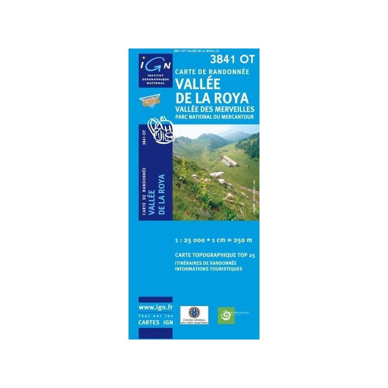 Carte randonnées IGN - 3841 OT - Vallée De La Roya - Vallée des Merveilles