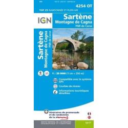 Achat Carte randonnées IGN - 4254 OT - Sartène - Montagne de Cagna