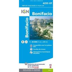 Achat Carte randonnées IGN - 4255 OT - Bonifacio