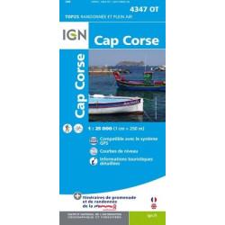 Achat Carte randonnées IGN - 4347 OT - Cap Corse