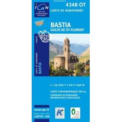 Achat Carte randonnées IGN - 4348 OT - Bastia - Golfe de St Florent