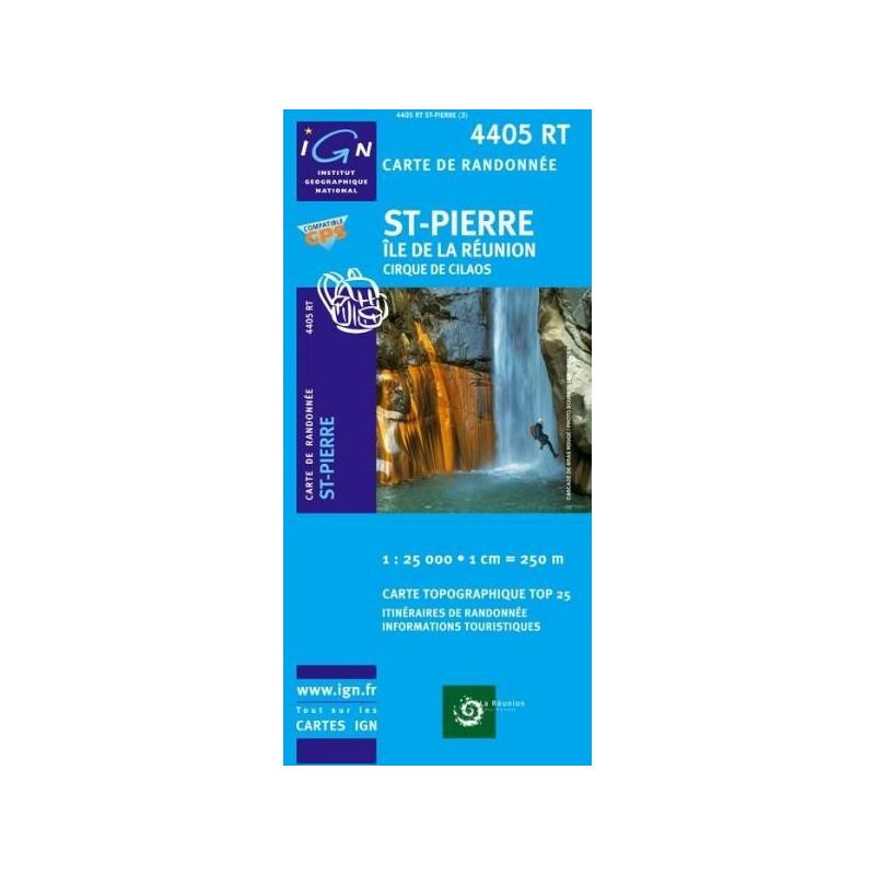 Achat Carte randonnées IGN - 4405 RT - St Pierre - Île de la Réunion